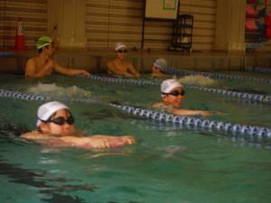 快適な城西大学室内プール。
