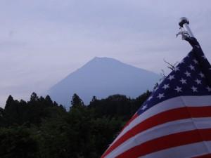 中等部2年生が毎日見た富士山。
