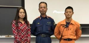 島村様(中) 金井様(右)「ご講演ありがとうございました(PTA学年委員長)」。
