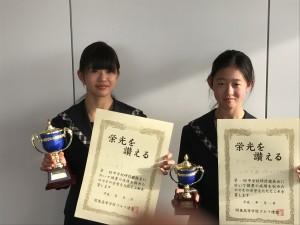 準優勝(姉)3位(妹)おめでとう!