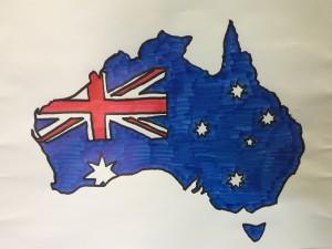 中3の先輩たちはオーストラリア。