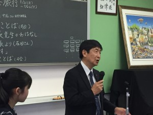 杉木校長先生より 「君達に期待している!!」