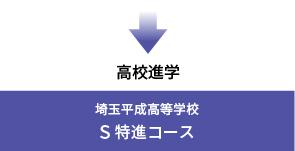 埼玉平成高等学校へはS特進コースへ進学